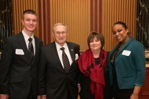 2012 Goss Scholarship recipients Tyler Amadeo and Karen Kerr with Howard and Roberta Goss