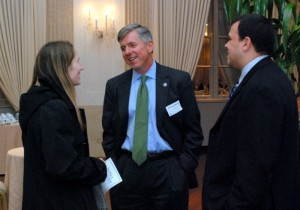 Prof. Mary Mindak, L&Q President Michael Whelan (EY) and L&Q Board member Sammy Delgado (Abbott)  at the awards reception.