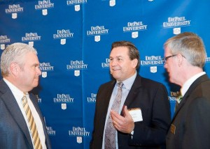 L&Q President Jim Robbs and School Director Kevin Stevens with McGladrey CEO Joseph Adams.