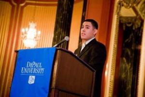 Senior Emmanuel Garcia (Pekny-Success Scholarship).
