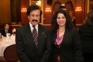 DePaul's Finest (l) school benefactor Barry Jay Epstein with Natasha Persicco