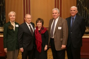 Lifetime Associate Stacia Taylor, Howard & Roberta Goss, L&Q President Jim Robbs and Past President and Lifetime Associate Larry Sullivan.