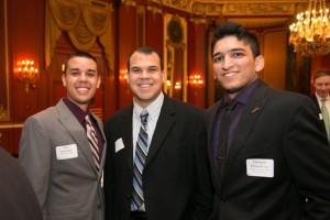 Peters Scholarship recipient Dan Summers, Board member Sammy Delgado, and Success awardee Jahangir Khandwala