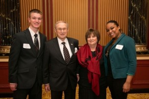 Howard and Roberta Goss with Goss Scholarship recipients  Tyler Amadeo and Karen Kerr.