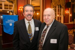 Past President and Lifetime Associate Ed Fellin and Prof. Ed Cohen.