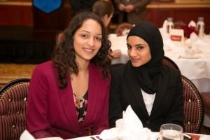First year Strobel Scholarship holder Zeba Hasan with senior Success through Scholarship awardee Sabana Patel