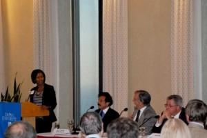 Fraud scholar Prof. Pope, panelists at the seminar.