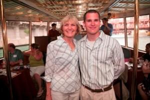 Success Through Scholarship sponsor Helen Pekny with Strobel Scholar Chris Ehas