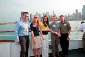 Members of the Class of '09 enjoy the cruise.