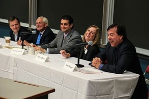The camaraderie among panelists and attendees led to a lively discussion.