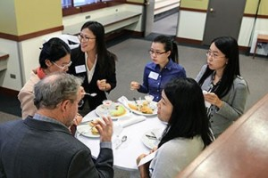 Students and L&Q members networked during the post-panel reception.