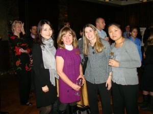 alum Chengbin Xo with Profs.Cindi Durtschi, Mary Mindak and L&Q Board member Prof. Hui Lin.