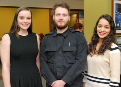 (L to R) Jennifer Waclawik, George Sobolevskiy and Zeba Hasan